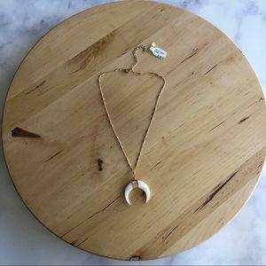 A. Marie Dezzi Shell Crescent Pendant Necklace
